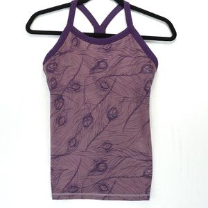 Lululemon purple feather racer back tank